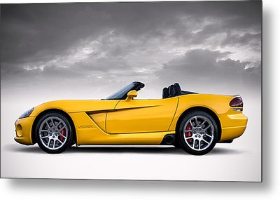 Yellow Viper Roadster Metal Print by Douglas Pittman
