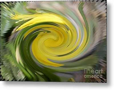 Metal Print featuring the digital art Yellow Whirlpool by Luther Fine Art