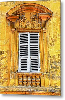 Metal Print featuring the photograph Yellow Window Nice France by Dave Mills