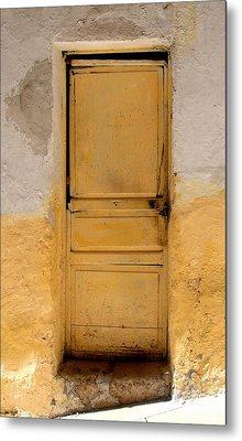 Yellow Wood Metal Print by Roberto Alamino