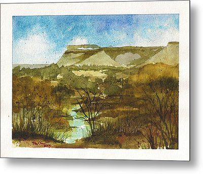 Yellowhouse Canyon Metal Print