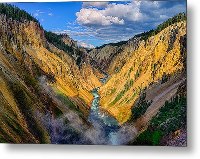 Yellowstone Canyon View Metal Print by Greg Norrell