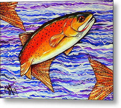 Yellowstone Cutthroat Metal Print by Jackie Carpenter