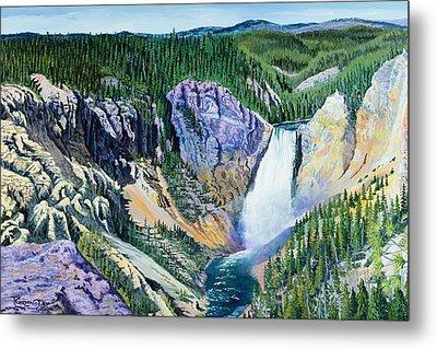 Yellowstone Falls Metal Print by Timithy L Gordon