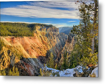 Yellowstone Grand Canyon East View Metal Print by Greg Norrell