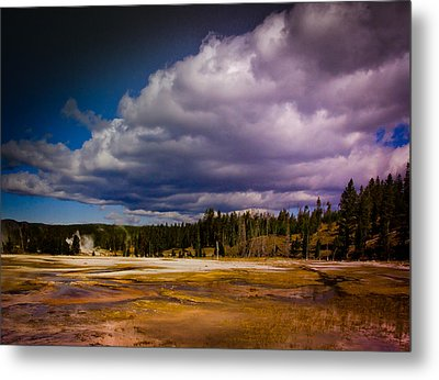 Metal Print featuring the photograph Yellowstone In October by Janis Knight