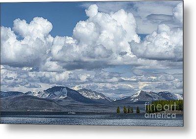 Yellowstone Lake Cloudscape Metal Print by Sandra Bronstein