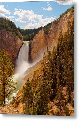 Metal Print featuring the photograph Yellowstone River - Lower Falls by Phil Stone