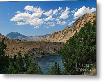 Metal Print featuring the photograph Yellowstone River Overlook by Charles Kozierok