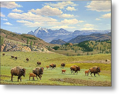 Yellowstone Spring Metal Print