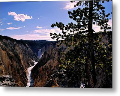 Yellowstone Waterfall Metal Print by Matt Harang