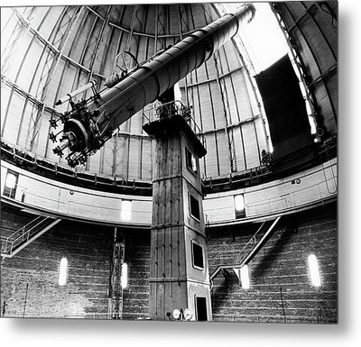 Yerkes 40-inch Refractor Metal Print by Yerkes Observatory, University Of Chicago, Courtesy Emilio Segre Visual Archives/american Institute Of Physics