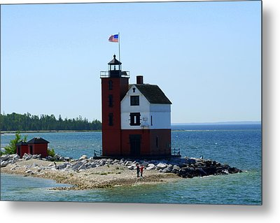 Metal Print featuring the photograph Yes Michigan by Debra Kaye McKrill