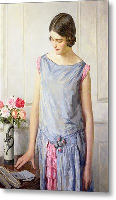 Yes Or No Metal Print by William Henry Margetson