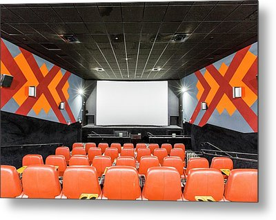 Yes Planet Movie Theatre Metal Print by Photostock-israel