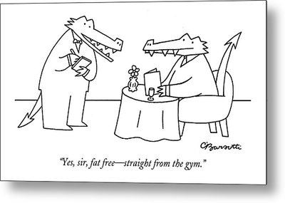 Yes, Sir, Fat Free - Straight From The Gym Metal Print
