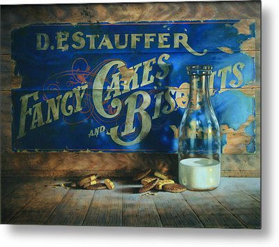 Yesterday's Milk And Cookies Metal Print by William Albanese Sr