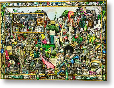 Yesterday's Treasure Metal Print by Colin Thompson