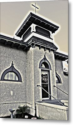 Yet Another Spooky Looking Church In Chino Metal Print by Gregory Dyer