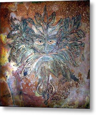 Yggdrasil Rune Greenman Metal Print