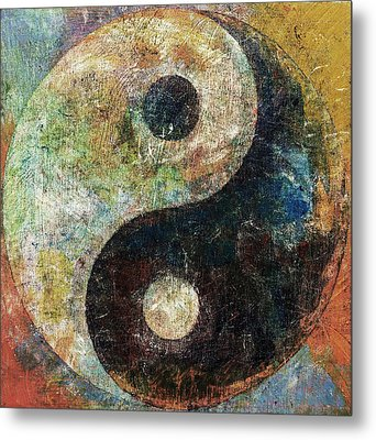 Yin And Yang Metal Print by Michael Creese