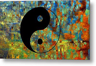 Yin Yang Abstract Metal Print