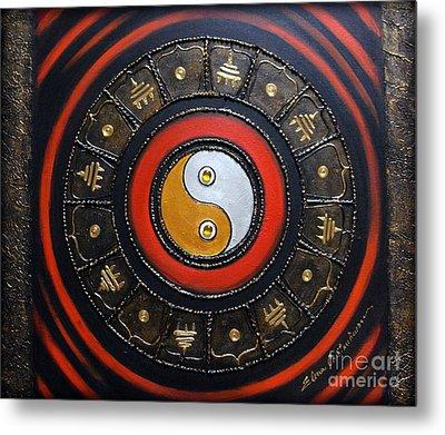 Yin Yang Energy Metal Print