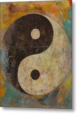Yin Yang Metal Print by Michael Creese