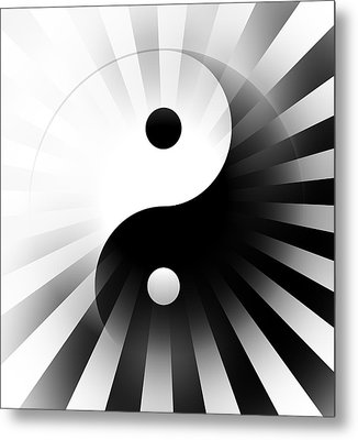 Yin Yang Power Metal Print by Daniel Hagerman