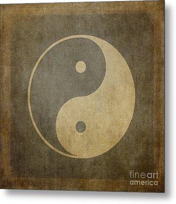 Yin Yang Vintage Metal Print by Jane Rix