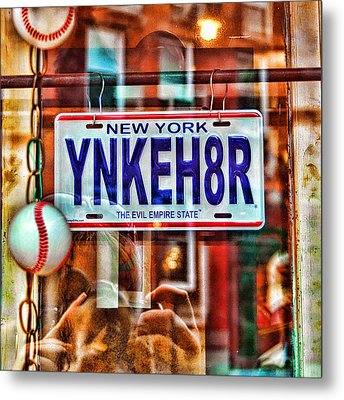 Ynkeh8r - Boston Metal Print