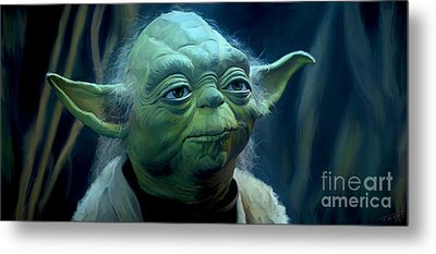 Yoda Metal Print by Paul Tagliamonte