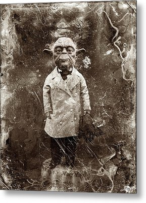Yoda Star Wars Antique Photo Metal Print