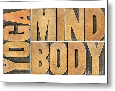 Yoga Mind And Body  Metal Print by Marek Uliasz