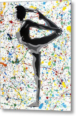 Yoga Standing Pose Metal Print by Denise Deiloh