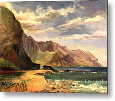 Yokahama Bay Oahu Hawaii - 1960's Metal Print