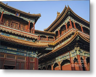 Yonghe Temple Aka Lama Temple In China Metal Print