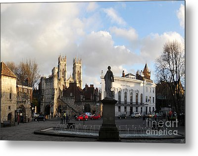 York Gallery Square Metal Print by Neil Finnemore