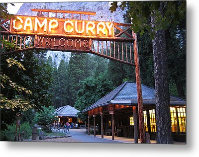 Metal Print featuring the photograph Yosemite Curry Village by Shane Kelly