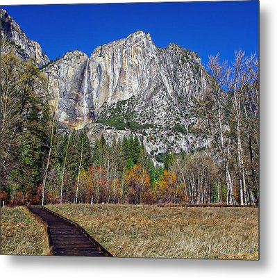 Yosemite Falls From Cook's Meadow Metal Print by Scott McGuire