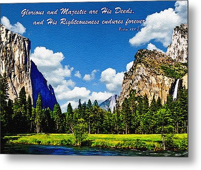 Yosemite Gods Country Metal Print by Bob and Nadine Johnston