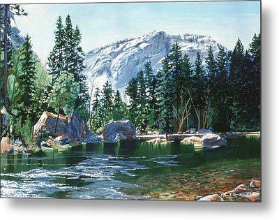Yosemite Mirror Lake Metal Print by Lynn Hansen
