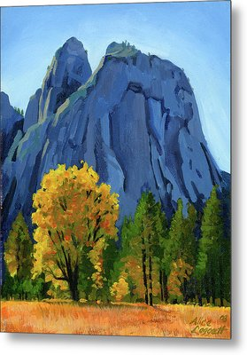 Yosemite Oaks Metal Print