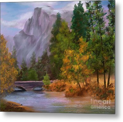 Yosemite Valley Half Dome Metal Print by Judy Filarecki