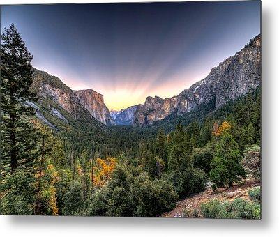 Yosemite View Metal Print