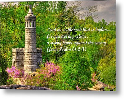 You Are My Strong Tower - From Psalm 61 Verses 2 And 3 -12th / 44th Ny Infantry Regiments Gettysburg Metal Print by Michael Mazaika