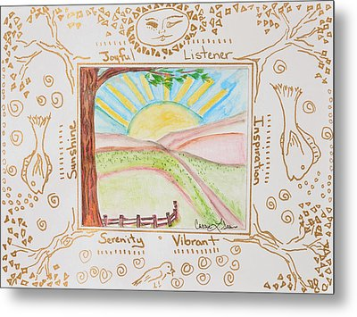 You Are My Sunshine Metal Print by Cassie Sears