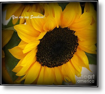 You Are My Sunshine - Greeting Card Metal Print by Dora Sofia Caputo Photographic Art and Design