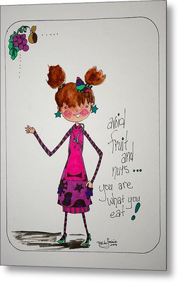 You Are What You Eat Metal Print by Mary Kay De Jesus