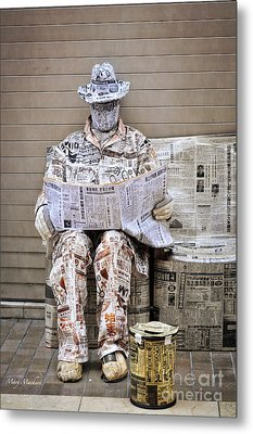 You Are What You Read Metal Print by Mary Machare